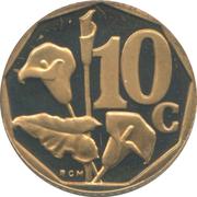 10 cents (en tsonga - AFRIKA DZONGA) -  revers