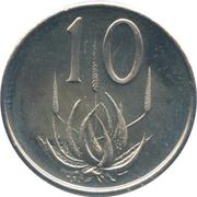 10 cents (Balthazar J. Vorster) -  revers