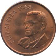 2 cents - Swart (en afrikaans SUID AFRIKA) -  avers