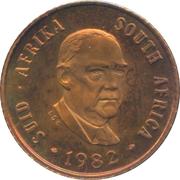 1 cent (Balthazar J. Vorster) -  avers