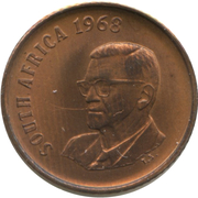 1 cent - Charles Swart (en anglais - SOUTH AFRICA ) -  avers