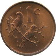 1 cent - Charles Swart (en anglais - SOUTH AFRICA ) -  revers