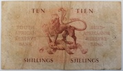 10 Shillings (Afrikaans - English) – revers