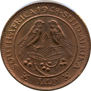 ¼ penny - George VI (SOUTH AFRICA - SUID AFRIKA) -  revers