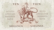 10 Shillings (English - Afrikaans) – revers