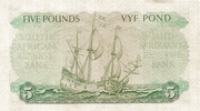 5 Pounds (English - Afrikaans) – revers