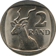 2 rand (SUID-AFRIKA - SOUTH AFRICA) -  revers