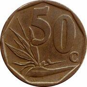 50 cents (en afrikaans - SUID AFRIKA) -  revers