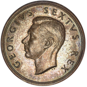 5 shillings - George VI (Anniversaire du Cap) -  avers