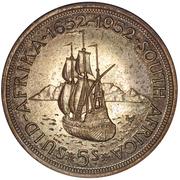 5 shillings - George VI (Anniversaire du Cap) -  revers