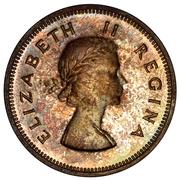 2 shillings - Elizabeth II (1ere effige) -  avers
