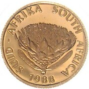 Gold Proof Protea 1/10oz - Groot – avers