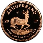 5 Ounce Krugerrand – revers
