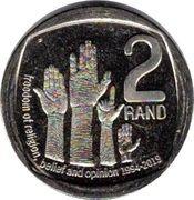 2 rand (Liberté de religion, de croyance et d'opinion) – revers
