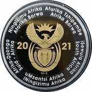 5 rand (Centenaire de la Banque de réserve sud-africaine) – avers