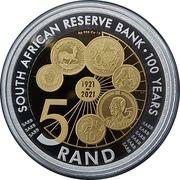 5 rand (Centenaire de la Banque de réserve sud-africaine) – revers