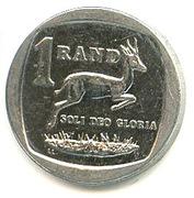 1 rand (en Tsonga et Swati - NINGIZIMU AFRIKA) -  revers