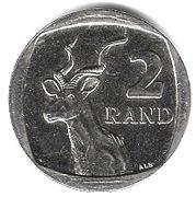 2 rand (en Tswana et Anglais - SOUTH AFRICA) -  revers