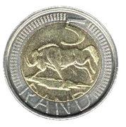 5 rand (en Tsonga et Swati - AFRIKA DZONGA - NINGIZIMU AFRIKA) -  revers