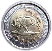 5 rand (AFORIKA BORWA - AFRIKA BORWA) -  revers