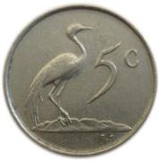 5 cents - Charles Swart (en African - SUID-AFRIKA) -  revers