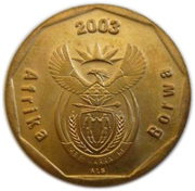 50 cents (en sepedi / sesotho - AFRIKA BORWA) -  avers
