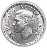 6 pence - George VI (SOUTH AFRICA - SUID AFRIKA) – avers