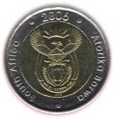 5 rand (SOUTH AFRICA - AFORIKA BORWA) -  avers