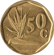 50 cents (SUID-AFRIKA - SOUTH AFRICA) -  revers