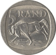 5 rand (SOUTH AFRICA - SUID-AFRIKA) -  avers