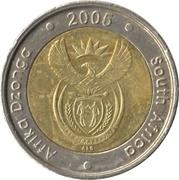 5 rand (en Tsonga et Anglais - AFRIKA DZONGA - SOUTH AFRICA) -  avers