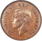 ¼ penny - George VI – avers