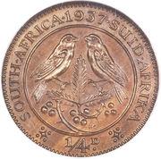 ¼ penny - George VI – revers