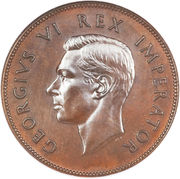 1 penny - George VI -  avers