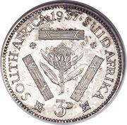 3 pence George VI – revers