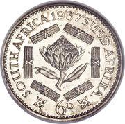 6 pence - George VI -  revers