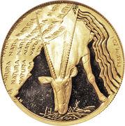 1 once (Oryx gazelle) – revers