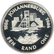 1 rand (Johannesburg) – revers