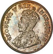 """2½ shillings - George V (Type 2 - """"SUID-AFRIKA"""") – avers"""