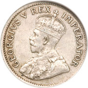 3 pence - George V -  avers