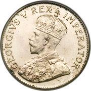 """3 pence - George V (Type 2 - """"SUID-AFRIKA"""") – avers"""