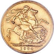 1 souverain - George V – revers