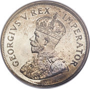 "2½ shillings - George V (Type 1 - ""ZUID-AFRIKA"") – avers"