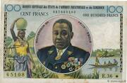 100 Francs (with denomination in English) – avers