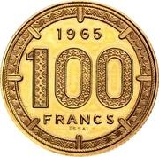 100 francs (Piéfort) – revers