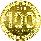 100 francs (Piedfort) – revers