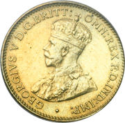 3 pence - George V -  avers