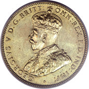 1 shilling - George V – avers