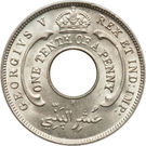1/10 penny - George V – avers