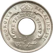 1/10 penny - George V -  avers